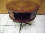 Lot: A6716 - Antique Mahogany Leather Drum Table