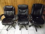 Lot: A6726 - (3) Leather Office Chairs