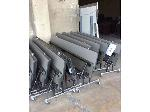 Lot: 5570 - (9) Gray Cafeteria Tables