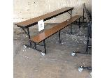 Lot: 5573 - (11) Brown Cafeteria Tables