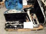 Lot: 18-134 - Band Instruments: Clarinet & Tubas