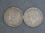 Lot: 4813 - 1926 PEACE & 1921 MORGAN DOLLARS