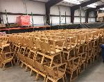 Lot: 38 - (8) Cafeteria Chairs