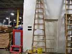 Lot: 313 - 12-FT WOOD LADDER