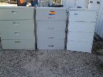 Lot: 033&34 - (2) File Cabinets & Computer Desk