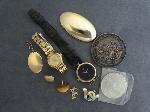 Lot: 4899 - PIN/PENDANT, WATCHES & 14K MISC. JEWELRY PIECES
