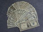 Lot: 4908 - (33) BLUE SEAL $1 DOLLAR BILLS