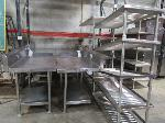 Lot: A2,3,4, 5, 6, 7 - (14) 5-shelf storage racks, (2) Carter Hoffman Retherm units, (86) plastic storage baskets, (193 approx) large metal trays and MORE!