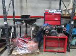 Lot: A13 - Ammco brake lathe machine & (7) Oil catch cans