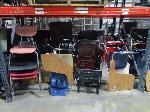Lot: C6,7 - Table, (2) Desks, (15) Cubicle Panels & (23) Chairs