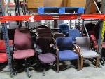 Lot: C10,11 - computer desk, (4) wooden desks & (16) chairs