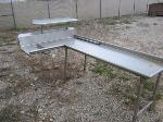 Lot: 04 - Stainless steel Table w/ Shelving Unit