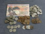 Lot: 5145 - 1968 COIN SET, NICKELS, PENNIES & FOREIGN COINS