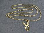 Lot: 5148 - 14K NECKLACE WITH 14K PENDNAT