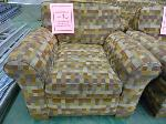 Lot: 70.UV - (4) UPHOLSTERED CHAIRS, (2) SIDE TABLES.