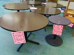 Lot: 73.UV - 1 ROUND TABLE, 1 SMALL ROUND TABLE, (10) FALCON CHAIRS