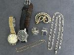 Lot: 5184 - WATCHES, SILVER RING & 14K BRACELET