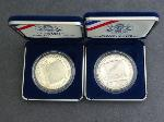 Lot: 5195 - (2) 1987 SILVER DOLLAR CONSTITUTIONAL COINS
