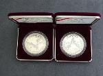 Lot: 5196 - (2) 1988 OLYMPIC SILVER DOLLAR PROOFS