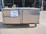 Lot: CNS408 - STAINLESS STEEL STORAGE CONTER ON WHEELS