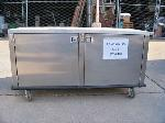 Lot: CNS409 - STAINLESS STEEL STORAGE CONTER ON WHEELS
