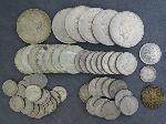 Lot: 5221 - PEACE DOLLAR, KENNEDYS, QUARTERS, DIMES & NICKELS