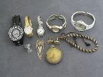 Lot: 5243 - POCKET WATCH, WATCHES & STERLING BOOKMARK