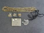 Lot: 5245 - NECKLACES, EARRINGS & 10K RING