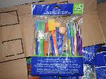 Lot: 447 - (100 Packs) of Paint Brushes