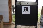 Lot: 34-39 - (2) Media Carts, Brother Laser Fax, (3) Cabinets, Magazine Holders & Baylor T -Shirt
