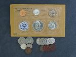Lot: 5259 - 58 PROOF SET, QUARTERS, DIMES & FOREIGN COINS