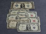 Lot: 5263 - 1923 LARGE $1 BILL & (4) '53 RED SEAL $2 BILLS