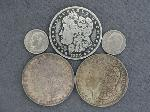 Lot: 5269 - 1888-O, 1900 & 1921 MORGAN DOLLARS