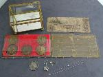 Lot: 5280 - CURRENCY, SILVER EARRING & 14K ANGLE BRACELET