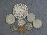 Lot: 5281 - 1884 MORGAN, 1899 V NICKEL & 1900 BARBER DIME