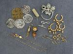 Lot: 5305 - SILVER, 14K, 18K MISC. JEWELRY PIECES