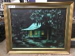 Lot: 07&8 - (5) Framed Cabin Art Pieces