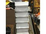 Lot: 40&41 - (5) Knoll Keyboard Supports & Metal Display Shelf