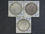 Lot: 5308 - (3) 1879 MORGAN DOLLARS
