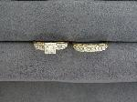 Lot: 5314 - 14K WEDDING SET