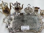 Lot: 02-20511 - 6 Piece Silver Plated Tea Set
