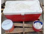 Lot: 02-20524 - Cooler & (2) Water Jugs