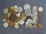 Lot: 5476 - 1854 LARGE CENT & APPROX. (53) FOREIGN COINS