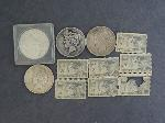Lot: 5481 - (4) PEACE DOLLARS & (7) STAMPS