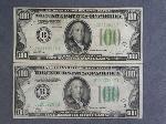 Lot: 5497 - (2) $100 BILLS - 1928 A, 1934 VG