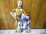 Lot: A7135 - Star Wars C3PO & R2D2 Cardboard Cutout