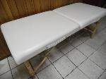 Lot: A7142 - Leather Folding Massage Table