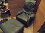 Lot: A7152 - Leather Massage Chair and Ottoman