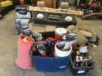 Lot: M2 - Power Tools, A/V Equipment, Seats, Parachute