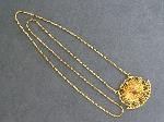 Lot: 5522 - 14K NECKLACE WITH 20/22C (KT) PENDANT